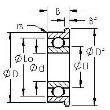 AST F696H deep groove ball bearings