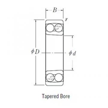 25 mm x 52 mm x 18 mm  25 mm x 52 mm x 18 mm  FBJ 2205K self aligning ball bearings
