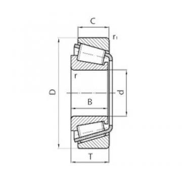 50,8 mm x 95,25 mm x 27,783 mm  50,8 mm x 95,25 mm x 27,783 mm  FLT CBK-322 tapered roller bearings