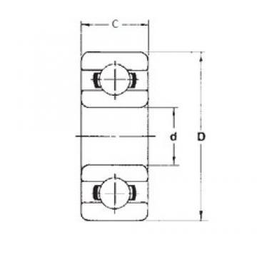 4,762 mm x 9,525 mm x 3,175 mm  4,762 mm x 9,525 mm x 3,175 mm  FBJ R166ZZ deep groove ball bearings