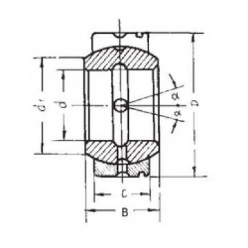 85 mm x 135 mm x 74 mm  85 mm x 135 mm x 74 mm  FBJ GE85XS/K plain bearings