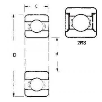 55 mm x 80 mm x 13 mm  55 mm x 80 mm x 13 mm  FBJ 6911-2RS deep groove ball bearings