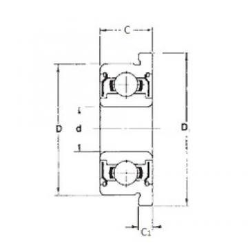 1,5 mm x 6 mm x 3 mm  1,5 mm x 6 mm x 3 mm  FBJ F601XZZ deep groove ball bearings