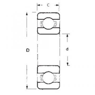 10 mm x 22 mm x 6 mm  10 mm x 22 mm x 6 mm  FBJ 6900 deep groove ball bearings
