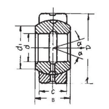 240 mm x 340 mm x 140 mm  240 mm x 340 mm x 140 mm  FBJ GE240ES plain bearings