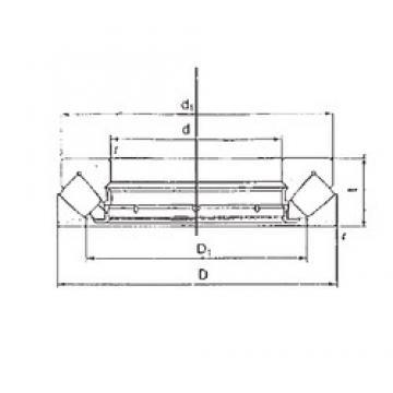 FBJ 29322M thrust roller bearings