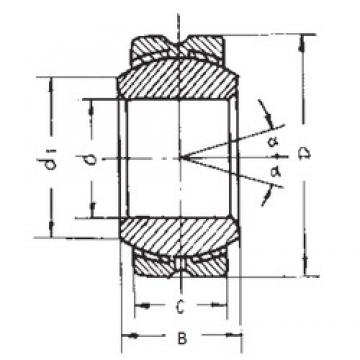14 mm x 34 mm x 19 mm  14 mm x 34 mm x 19 mm  FBJ GEBK14S plain bearings