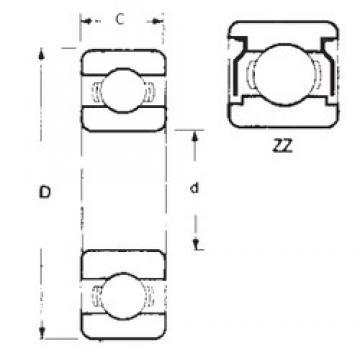 15,875 mm x 41,275 mm x 12,7 mm  15,875 mm x 41,275 mm x 12,7 mm  FBJ 1628ZZ deep groove ball bearings