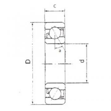 100 mm x 180 mm x 34 mm  100 mm x 180 mm x 34 mm  FBJ 7220B angular contact ball bearings