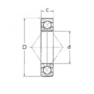 45 mm x 85 mm x 19 mm  45 mm x 85 mm x 19 mm  FBJ QJ209 angular contact ball bearings