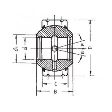 55 mm x 125 mm x 90 mm  55 mm x 125 mm x 90 mm  FBJ GEK55XS-2RS plain bearings