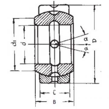 19.05 mm x 31,75 mm x 16,662 mm  19.05 mm x 31,75 mm x 16,662 mm  FBJ GEZ19ES plain bearings