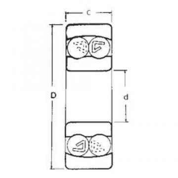 17 mm x 40 mm x 16 mm  17 mm x 40 mm x 16 mm  FBJ 2203 self aligning ball bearings