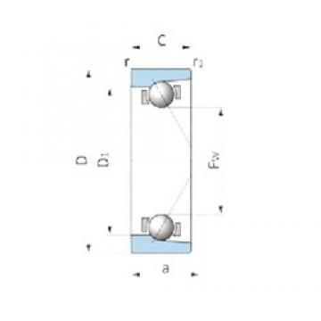 IJK ASB1847 angular contact ball bearings