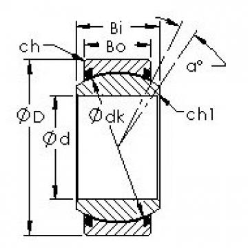 AST GEZ25ET-2RS plain bearings
