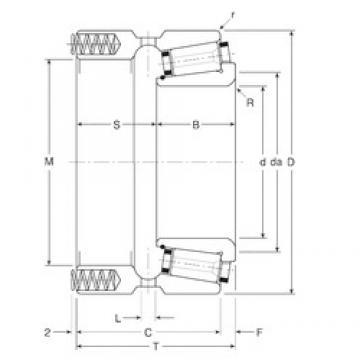133,35 mm x 196,85 mm x 42 mm  133,35 mm x 196,85 mm x 42 mm  Gamet 164133X/164196XP tapered roller bearings