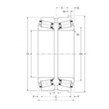 Gamet 187185/187258H tapered roller bearings