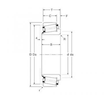 44,45 mm x 88,9 mm x 28 mm  44,45 mm x 88,9 mm x 28 mm  Gamet 119044X/119088X tapered roller bearings