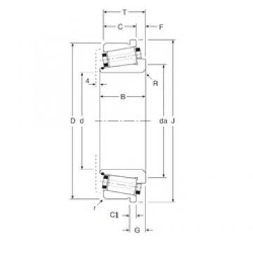 69,85 mm x 120 mm x 32 mm  69,85 mm x 120 mm x 32 mm  Gamet 130069X/130120C tapered roller bearings