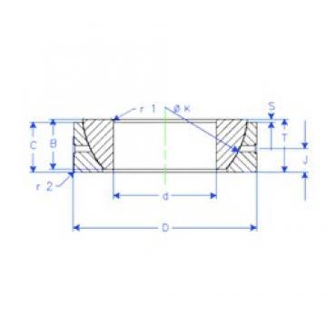 60 mm x 95 mm x 23 mm  60 mm x 95 mm x 23 mm  Enduro GE 60 SX plain bearings