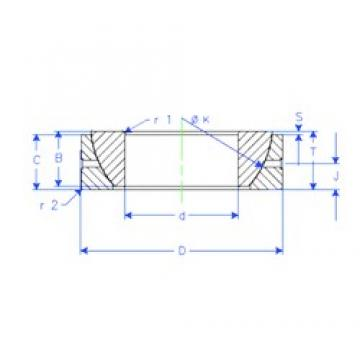 70 mm x 110 mm x 25 mm  70 mm x 110 mm x 25 mm  Enduro GE 70 SX plain bearings