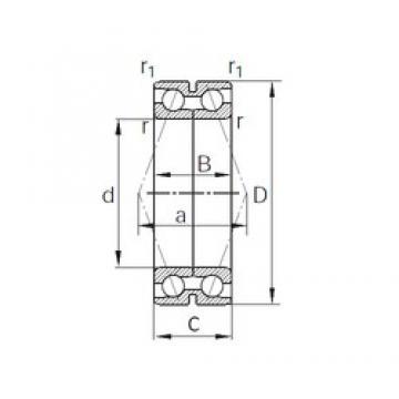 69 mm x 92 mm x 24 mm  69 mm x 92 mm x 24 mm  KBC SDA0112 angular contact ball bearings